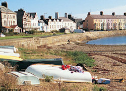 A photo of one of the villages on the coast in Isle of Anglesey in Wales