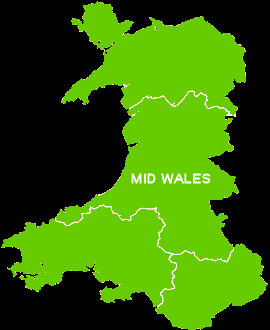 Map of Mid Wales. This page has all the caravan parks that are situated in this area of Wales
