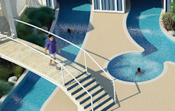 Picture of the pool at Presthaven Sands Holiday Park in North Wales