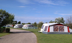Tents on display at the Ty Mawr Holiday Park - Park Resorts - North Wales