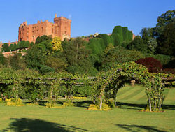 A view of Powis Castle and Gardens