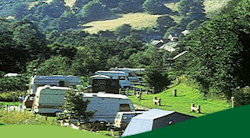 A view of the lovely campsite at Cwmcarn Forest Campsite in South Wales