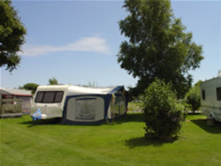 Another view of the campsite at Acorn Camping & Caravan Park in South Wales