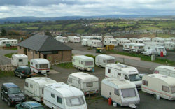 A view of the caravan park at Pen y fan Caravan & Leisure Park in South Wales